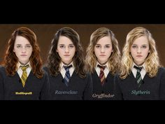 Emma Watson Harry Potter Hufflepuff Hermione Granger Gryffindor photomanipulation Slytherin Ravenclaw  / 1024x768 Wallpaper