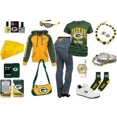 So cute for any true Green Bay Packer Fan :) Packers Gear, Packers Baby, Go Packers, Packers Football, Football Season, Green Bay Football, Green Bay Packers Fans, Football Fashion, Looks Cool