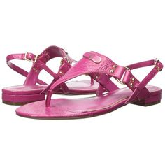 LAUREN Ralph Lauren Valinda Women's Sandals ($69) ❤ liked on Polyvore featuring shoes, sandals, small heel sandals, sling back sandals, low heel thong sandals, thong sandals and miniature shoes