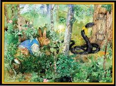 ORIGINAL ART: MORE TALES OF UNCLE REMUS - RABBIT AND SNAKE. JOEL CHANDLER HARRIS. JERRY PINKNEY.