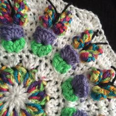 Have you hooked up a Crochet Butterfly Garden Octagon? There's a video tutorial for the octagon and the squares. I finally have decided how I'm going to join it all and will share how I do it very soon! http://dearestdebi.com/crochet-butterfly-garden-octagon