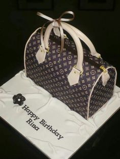 Bag cake idea: Louis Vuitton bag cake, the detailing is fantastic and it looks very real