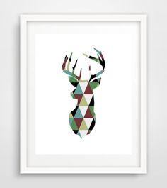 Deer Print Deer Wall Art Printable Wall Art by PaperStormPrints