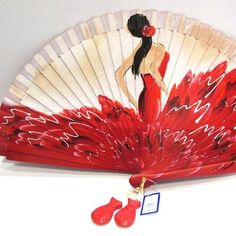 Hand Held Fan, Hand Fans, Arbors Trellis, Fan Decoration, Flamenco Dancers, Art N Craft, Embroidery Stitches, Bath And Body, Photo Art