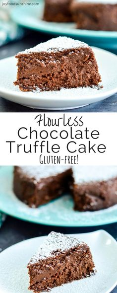 Flourless Chocolate Truffle Cake Recipe! An irresistible gluten-free dessert for serious chocolate lovers.
