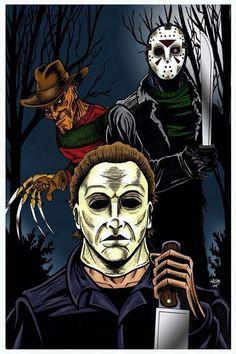 Freddy Krueger, Jason Voorhees & Michael Myers