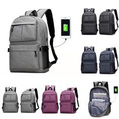 USB External Charging Sports Waterproof Student Bag Laptop Backpack   fashion  clothing  shoes   b1cf1767c4860