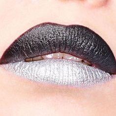 #black & #silver #lip