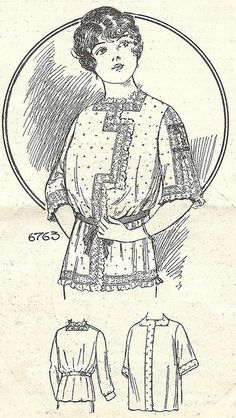 A dressing sacque from 1914 by blueprairie, via Flickr