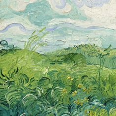 "Cider House "" Green Wheat Field (detail) by Vincent van Gogh"