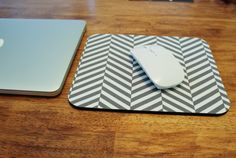 Here is a smooth surface for your mouse, a soft place to rest your wrist and a good-looking addition to your work space. This is a rubber mouse pad