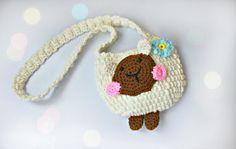 Сумочка крючком - овечка (часть 1).Crochet bag (part 1)