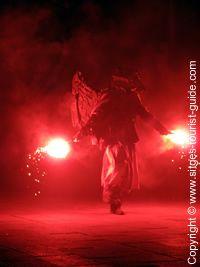 A Character at a Sant Joan Fireworks Display