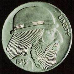 RAY CASTRO HOBO NICKEL - 1935 BUFFALO PROFILE