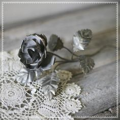 Silver Antique Rose