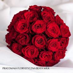 bukiet ślubny czerwona róża