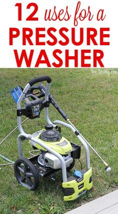Harness the power of your pressure washer with these 12 Uses For A Pressure Washer.