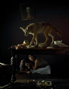 by Maxine Helfman Surrealism Photography, Art Photography, Contemporary Photography, Story Inspiration, Writing Inspiration, Dark And Twisty, Red Riding Hood, Fantasy Creatures, Werewolf