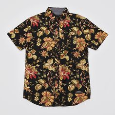 Flatspot - I Love Ugly Blacked Out Floral Shirt Black
