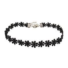 Black Lace Flower Chokers