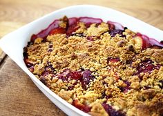 Maple Plum Crumble - This is a lovely weekend treat; easy to put together while you're cooking a main course perhaps.
