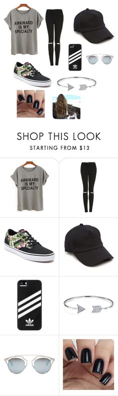 """summer"" by nevena-aleksic ❤ liked on Polyvore featuring Topshop, Vans, rag & bone, adidas, Bling Jewelry and Christian Dior"