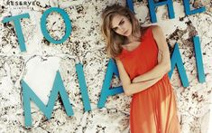 Cara Delevingne Orange Dress Miami - HD Wallpapers - Free Wallpapers - Desktop Backgrounds