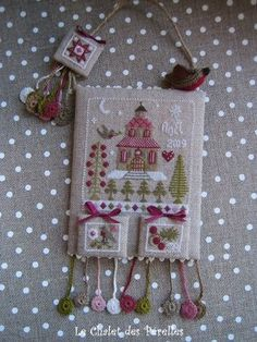Christmas Cross Stitch Hang-up from le Chalet de Perelles