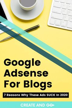 You've probably heard that ads are a great way to start earning money from your new blog. But did you know the wrong ads program could do your blog more harm than good? Adsense may or may not be the right choice for you. We'll give you more information to help you determine if using Google Adsense on your blog is the right next step for you. #createandgo #googleadsense #blog #makemoneyblogging Earning Money, Make Money Blogging, How To Make Money, Advertising, Ads, News Blog, How To Start A Blog, Affiliate Marketing, About Me Blog