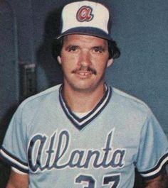 Atlanta Braves  Photo (1980) - Rick Camp wearing the Atlanta Braves road uniform during the 1980 season