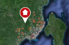 Find your property --- houses, condos and lots for sale in Davao City Davao, Lots For Sale, Condos, Finding Yourself, Real Estate, Houses, Map, City, Beach