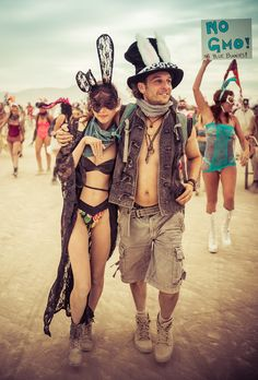 Another scene from the BIllion Bunny March. I think I took 500 photos that day! - Burning Man, Nevada - Photo from #treyratcliff Trey Ratcliff at http://www.StuckInCustoms.com