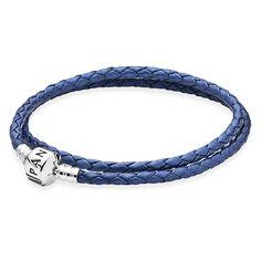Pandora Lederarmband 590705CSB Blue
