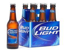 Garrafa e pack da cerveja Bud Light