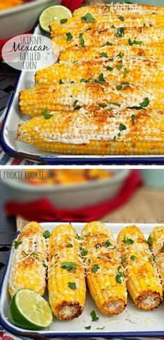 Skinny Mexican Grilled Corn - perfect for Memorial Day Weekend BBQ!