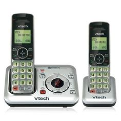 VTech DECT Expandable Cordless Phone with Answering System and Caller ID/Call Waiting, Silver with 2 Handsets - Cordless - 1 x Phone Line - 2 x Handset - Speakerphone - Answering Machine - Hearing Aid Compatible - Backlight Telephone Line, Cordless Telephone, How To Start Conversations, Thing 1, Caller Id, Home Phone, Best Phone, Hearing Aids, Digital Technology