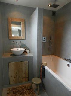 Interieurideeën | Badkamer beton cire Door JeanetM