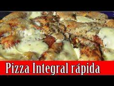 A pizza integral mais rápida e fácil do mundo! Pizza Integral, Lasagna, Ethnic Recipes, Fitness, Youtube, Food, Roasted Squash, Homemade Pasta, The Oatmeal