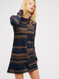 Rave On Sweater Mini | Soft and comfy long sleeve sweater mini dress in a…
