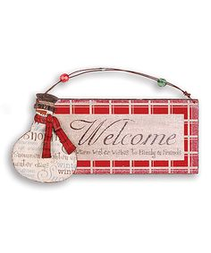 Loving this Snowman Welcome Sign on #zulily! #zulilyfinds