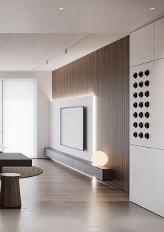 Living Room Tv Unit Designs, Bedroom Wall Designs, Bedroom Wall Colors, Bedroom Ideas For Small Rooms Diy, Modern Bedroom Decor, Tv Wall Design, Interior Modern, Apartment Interior, Luxurious Bedrooms