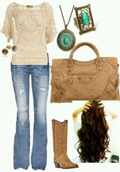 Tan and turquoise.