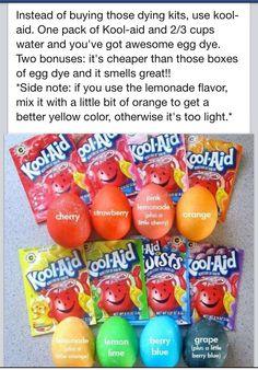 Easter egg dye.... Kool