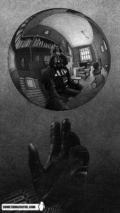Vader/Escher art
