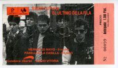 """Viernes 22 de mayo de 1987, Pabellón de la Casilla, Bilbao. El """"jurti"""" y Radio Futura"""