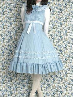Blue and white Lolita dress