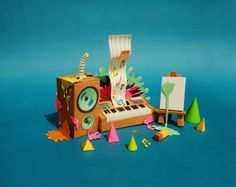Teasers for Papercraft Campaign by FullFill, via Behance