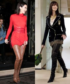 Kendall Jenner channel's Devil Wears Prada with her thigh high boots.