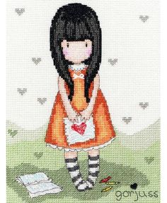 Gorjuss I Gave You My Heart Cross Stitch Kit £23.00 | Past Impressions | Bothy Threads