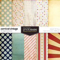 Carnival Vintage, Digital Papers